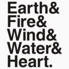 Earth&Fire&Wind&Water&Heart (Black) by BiggStankDogg