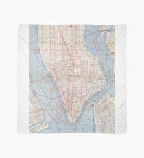 Pañuelo Vintage Map of Lower Manhattan (1879)