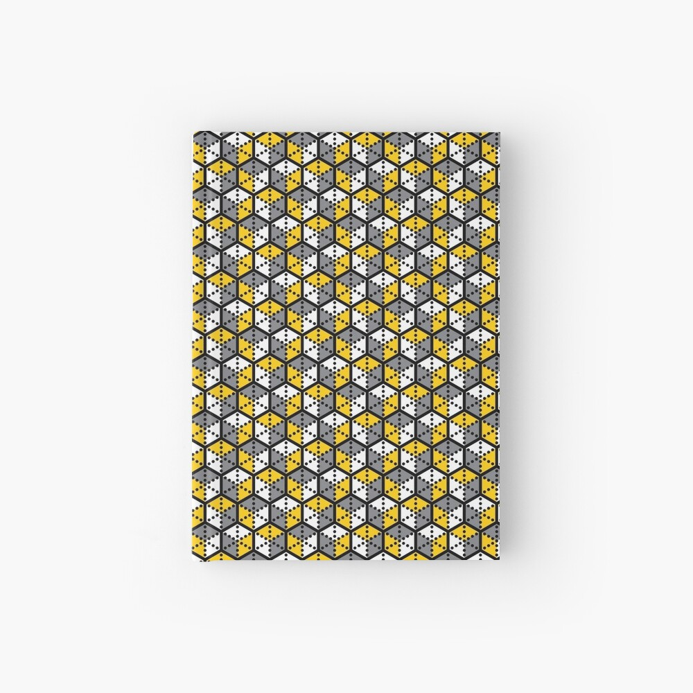 Geometric Cubes Hardcover Journal