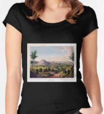 Johannes Läpple Weinsberg Eberhard Emminger Ca 1855 Farbig Women's Fitted Scoop T-Shirt