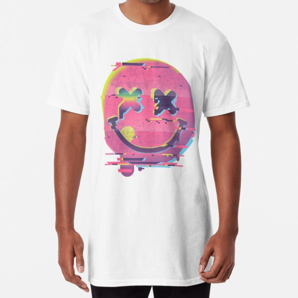 Glitch smiley Long T-Shirt
