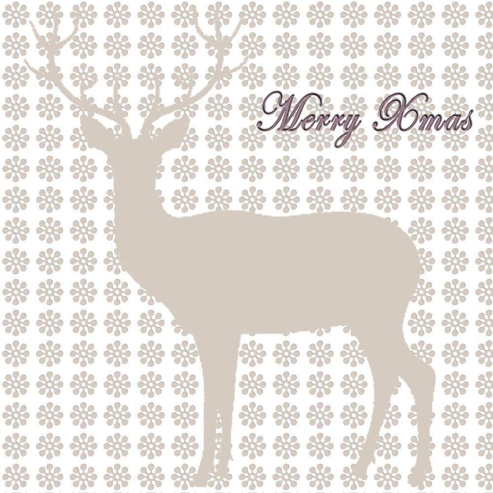 Reindeer Xmas Card by jainroberts