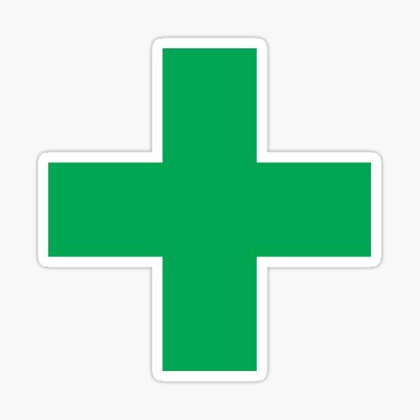 Medical Marijuana Green Cross Sticker