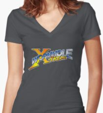 Wormhole Xtreme Women's Fitted V-Neck T-Shirt