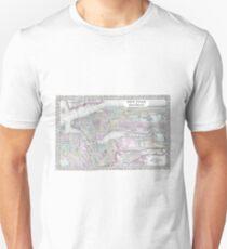 Camiseta unisex Vintage Map of NYC and brooklyn (1867)