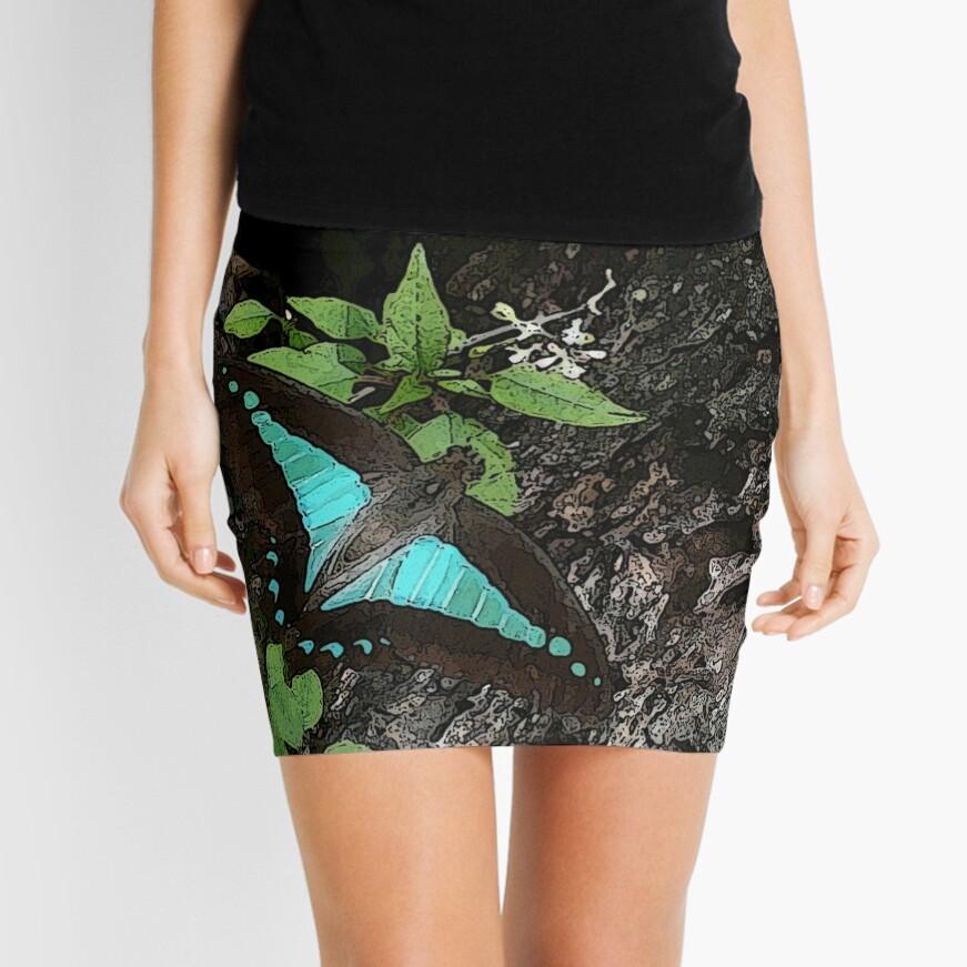 Rainforest Butterfly Mini Skirt