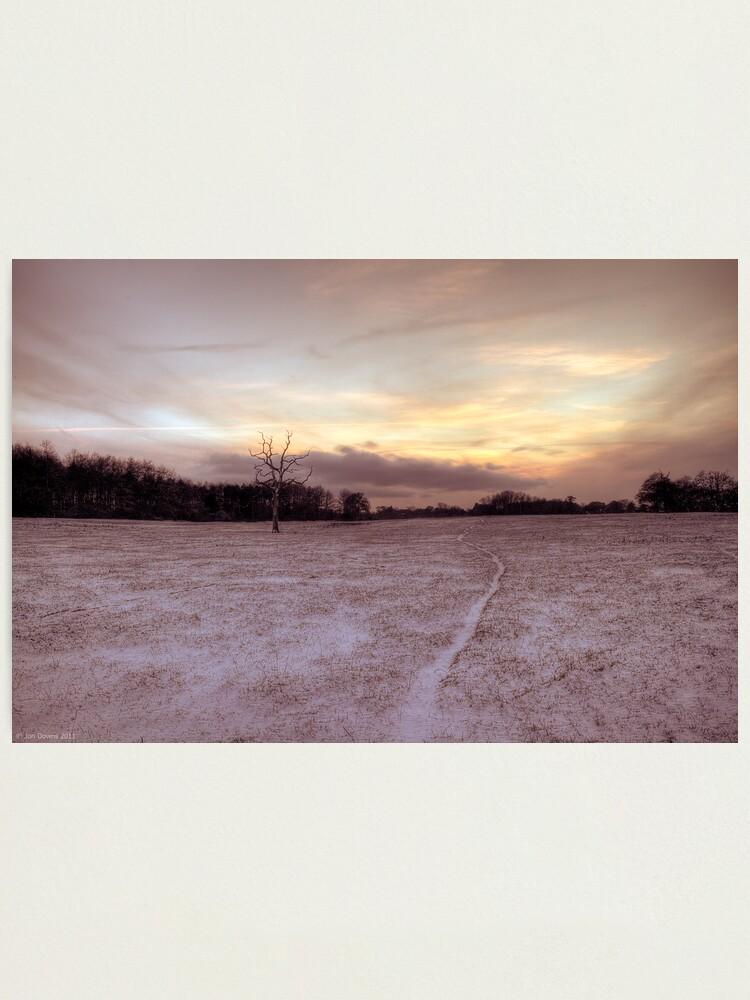 Alternate view of snow way Photographic Print