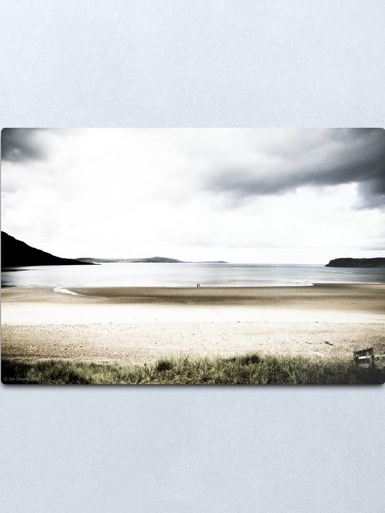 Alternate view of on the beach Metal Print