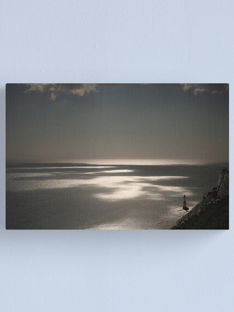 Alternate view of Beachy Head lighthouse Canvas Print