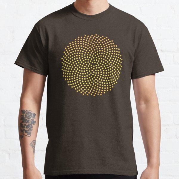 Sunflower, Seed, Fibonacci Spiral, Golden Ratio, Mathematics, Geometry Classic T-Shirt