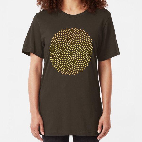 Sunflower Seed, Fibonacci Spiral, Golden Ratio, Mathematics, Geometry Slim Fit T-Shirt