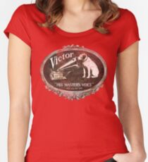 His Master's Voice Fitted Scoop T-Shirt