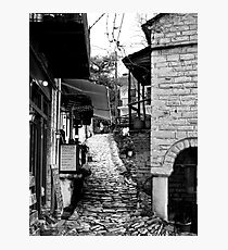 Pelion village stone paved alley Photographic Print