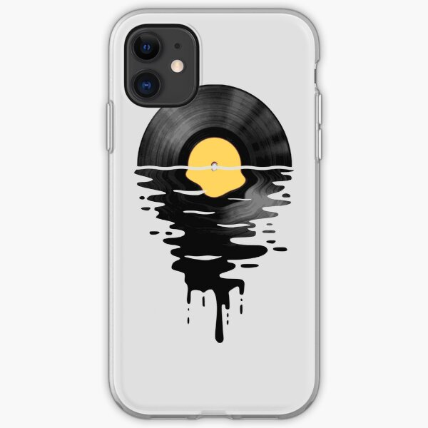 Vinyl LP Music Record Sunset  Yellow iPhone Soft Case