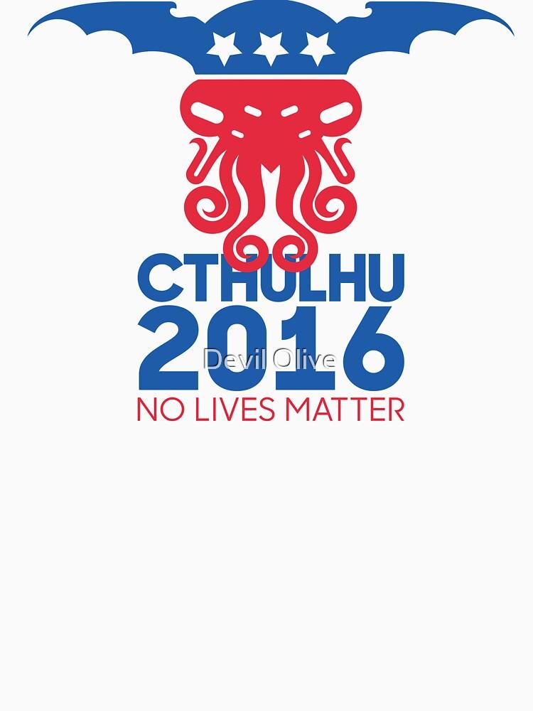 Abstimmung Cthulhu für Präsident 2016 No Lives Matter von Tiki2