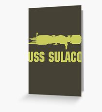 USCM Colonial Marines USS Sulaco  Greeting Card