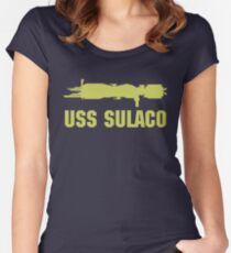 USCM Colonial Marines USS Sulaco  Women's Fitted Scoop T-Shirt