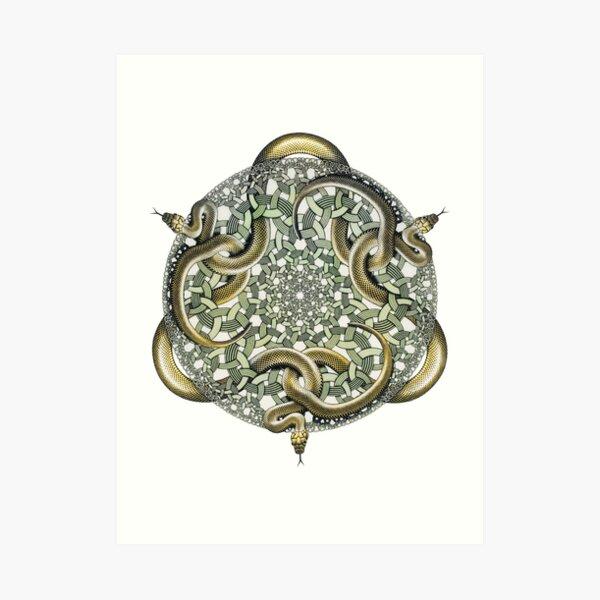 Escher Snakes Art Print