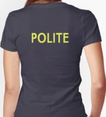 Polite Women's Fitted V-Neck T-Shirt