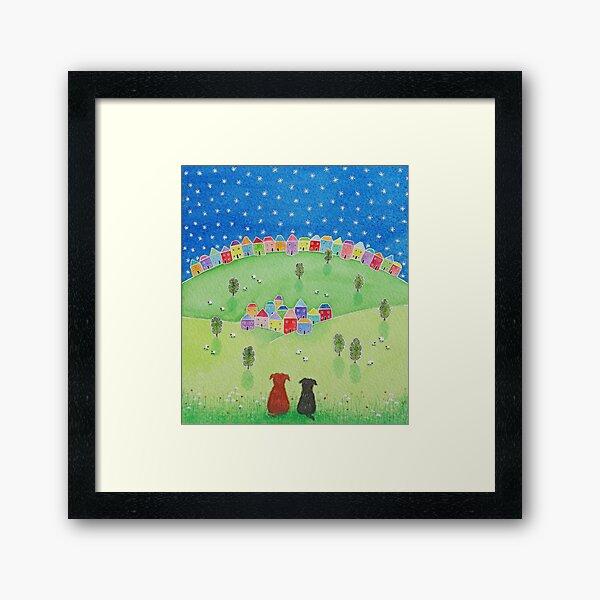 """""""Friends Forever..."""" Colourful art for dog lovers everywhere Framed Art Print"""