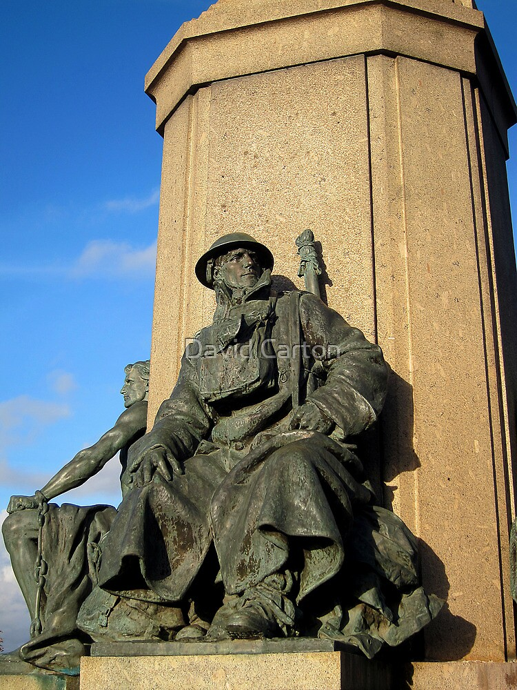 Detail of the Northernhay war memorial, Exeter by David Carton