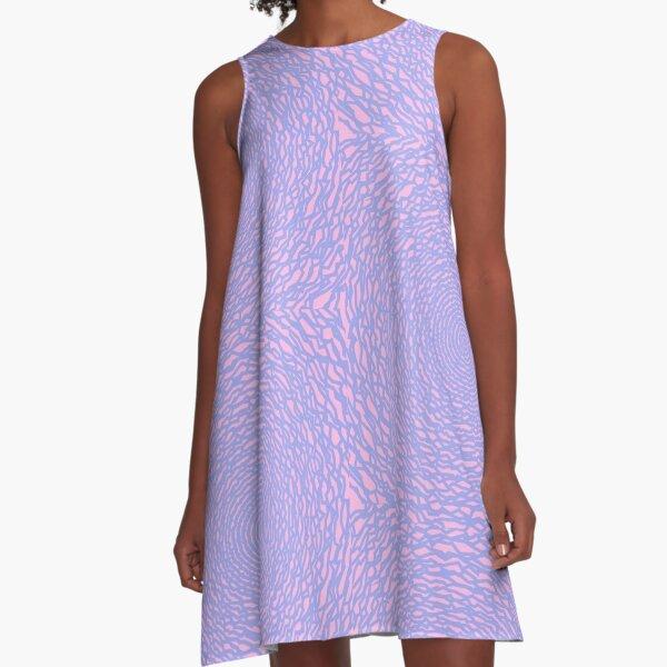Downward pink joker spiral madness A-Line Dress