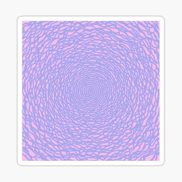 Downward pink joker spiral madness Sticker