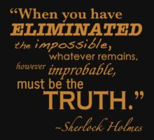 Elimiated the Impossible