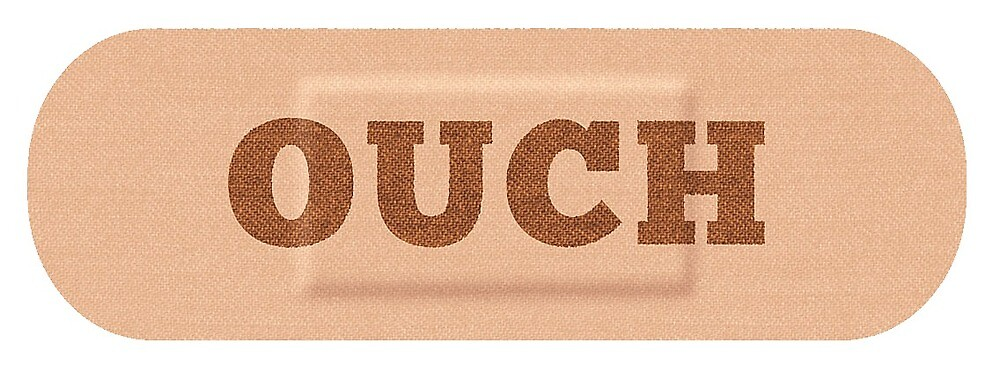 Ouch Sticker - For car  by sirllamalot