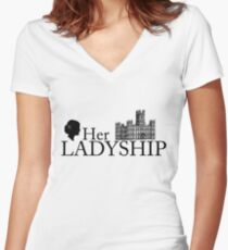 Her Ladyship Women's Fitted V-Neck T-Shirt