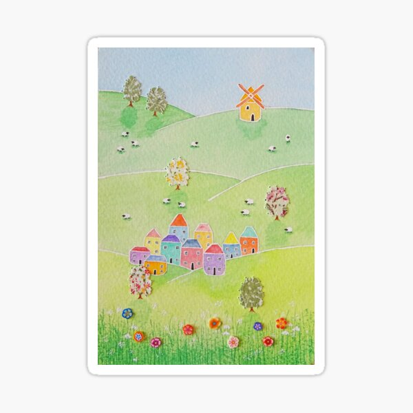 """""""Summer dreams..""""  A celebration of the English countryside Sticker"""