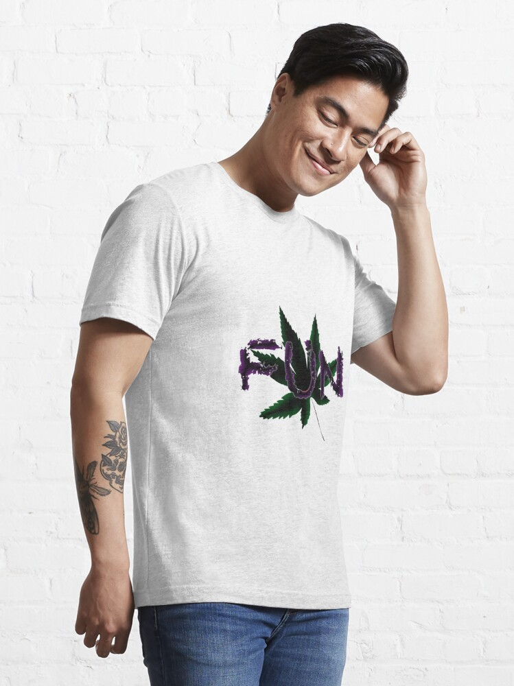 Alternate view of Fun Leaf - white Essential T-Shirt