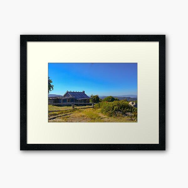 Craig's Hut Side Framed Art Print