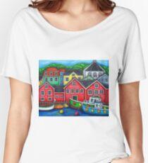 Colours of Lunenburg, Nova Scotia Women's Relaxed Fit T-Shirt