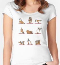 English Bulldog Yoga Women's Fitted Scoop T-Shirt