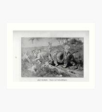 Adolf Oberländer or Oberlander Glaspalast München 1897 054 Art Print