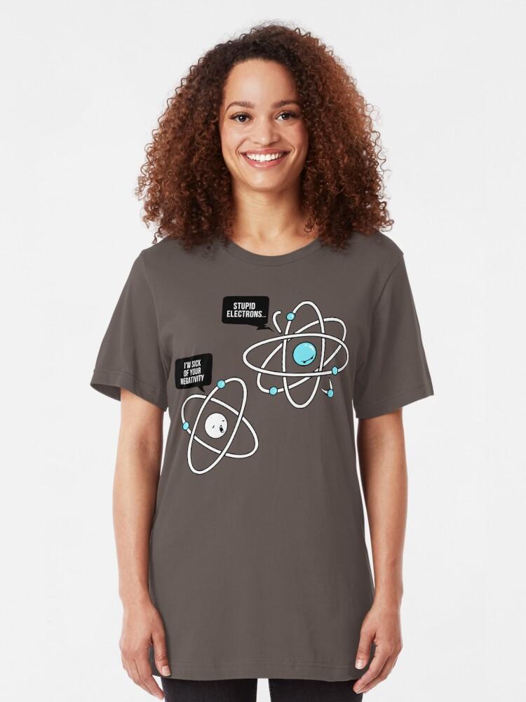 Alternate view of Negative Atom Slim Fit T-Shirt