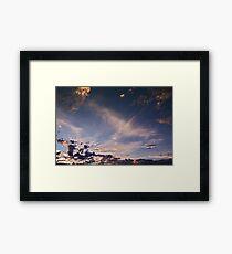 """""""Flying"""" Sunset Framed Print"""