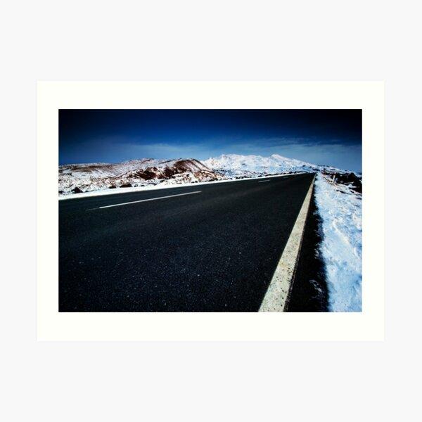 Road to Ruapehu Art Print