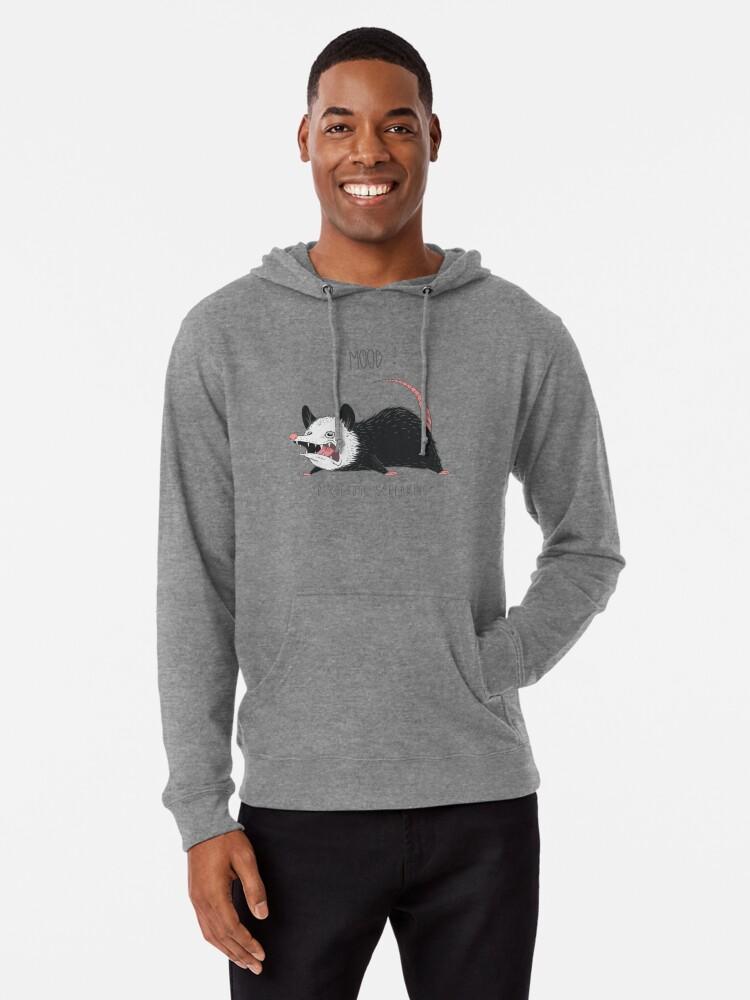 Alternate view of Mood Possum Lightweight Hoodie