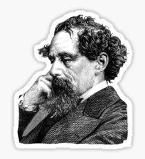 Charles Dickens portrait Sticker