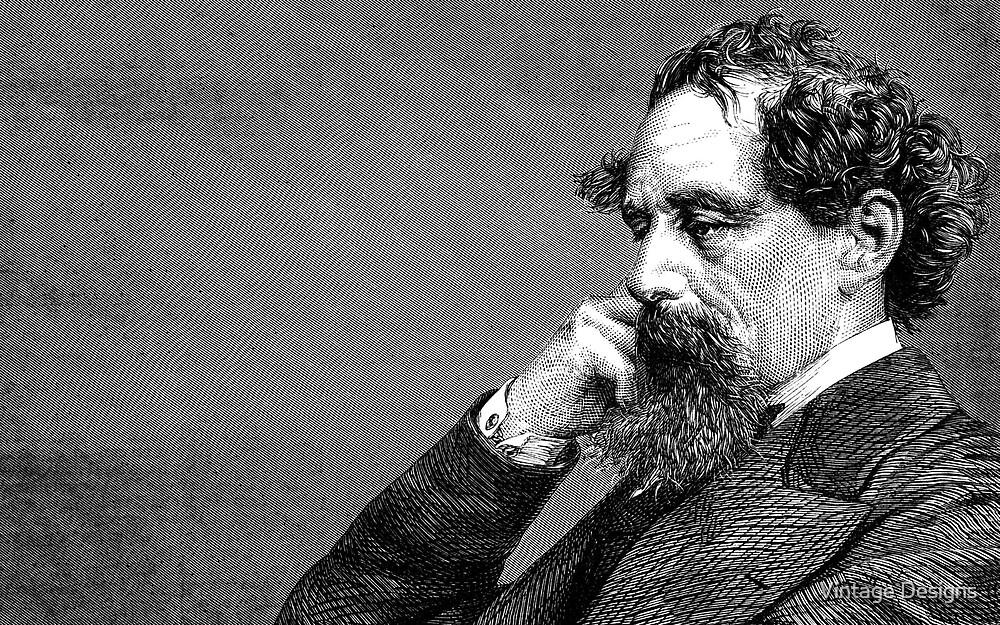 Charles Dickens portrait by Vintage Designs
