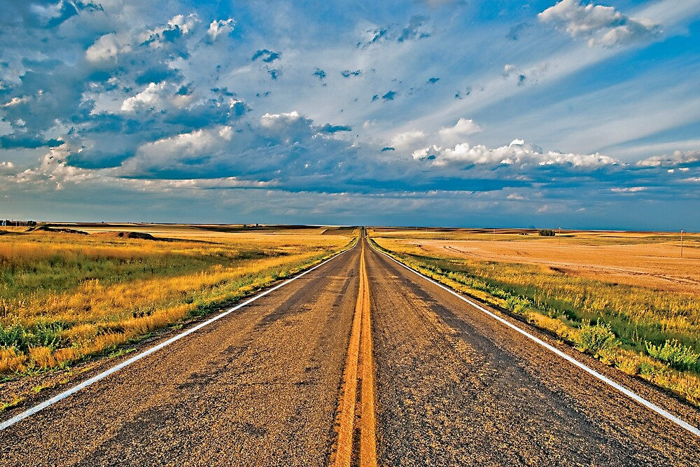 Driving to Glasgow (Montana Highway 24) by Bryan Spellman