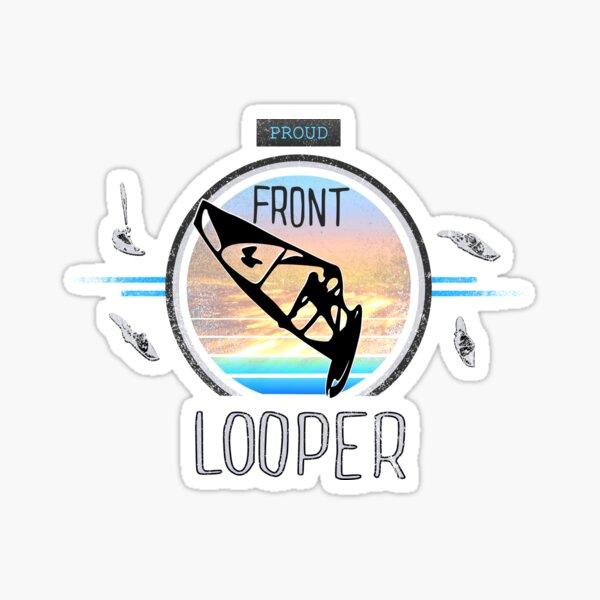 Proud Front Looper Windsurf Jump at Sunset over Ocean Waves Sticker
