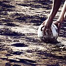 Football stories from the beach - Put the ball by Komang
