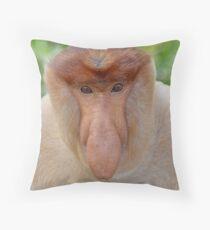 Proboscis Monkey - Nasalis larvatus Throw Pillow