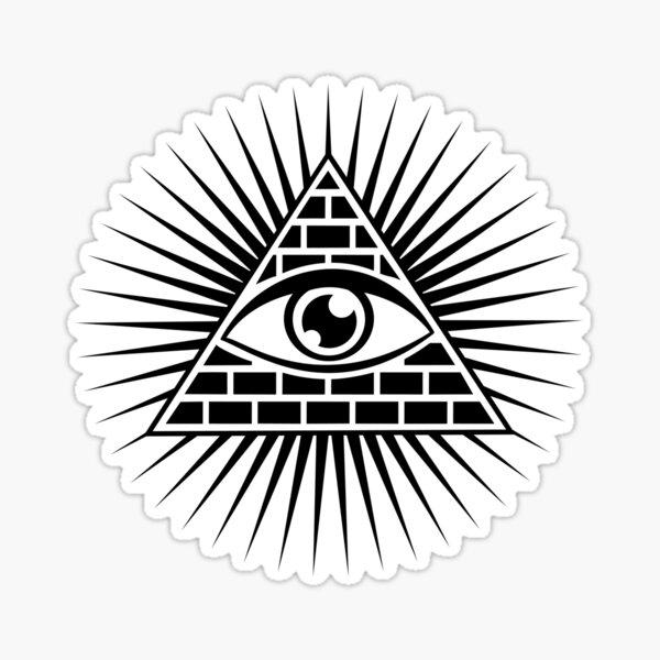 Ojo que todo lo ve, Ojo de la Providencia, Símbolo Omnisciencia Pegatina