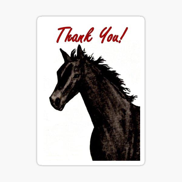 Black Beauty - Thank You Card Sticker