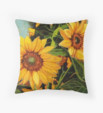 Looking for the Sun Throw Pillow