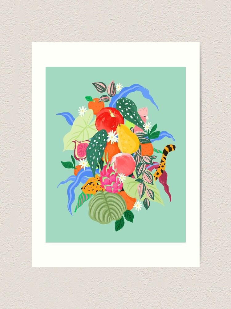 Alternate view of Fruits and Jungle Combo Art Print